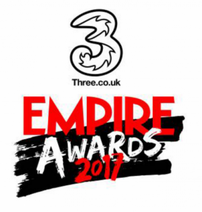 Empire Awards logo, sponsored by the mobile network Three