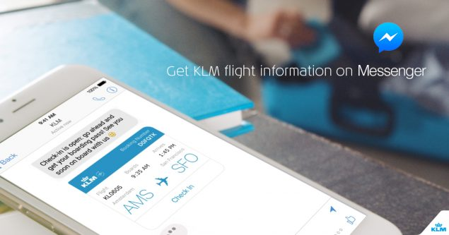 The based chatbot for KLM airlines that allows passengers to check in using messenger.