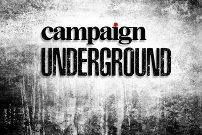 "the logo for Campaign underground, a series of ""underground"" events run by the magazine campaign"