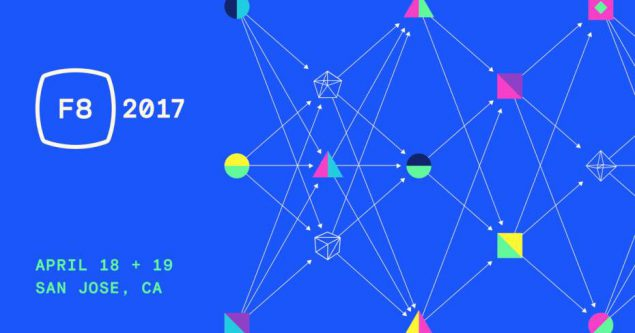 Promotional image for Facebook F8 conference in California