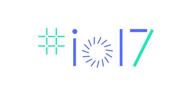Promotional graphic for the Google I/O conference 2017