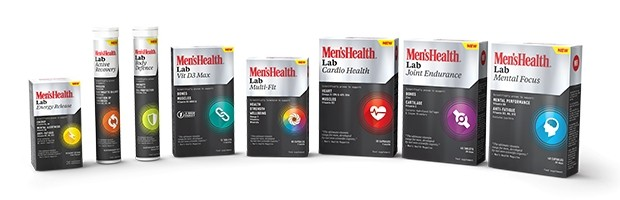 The men's health magazine have release a range of Vitamins with their branding on it.