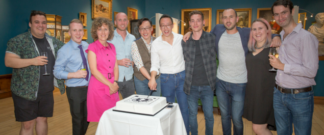 The Ready team celebrate a decade in business at Bath's Victoria Art Gallery.