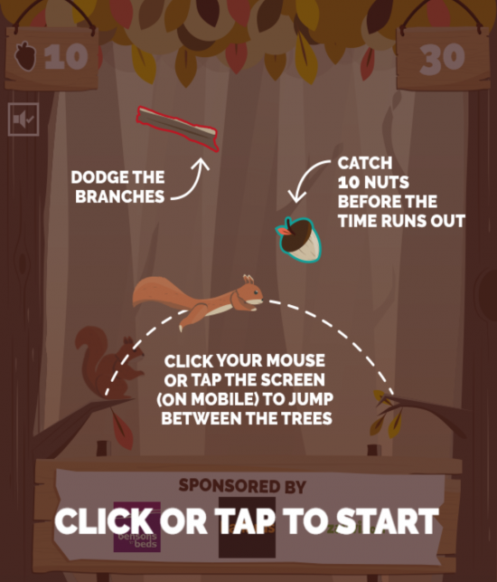 A web page showing the instructions for Quidcos Nutz For Nuts digital game