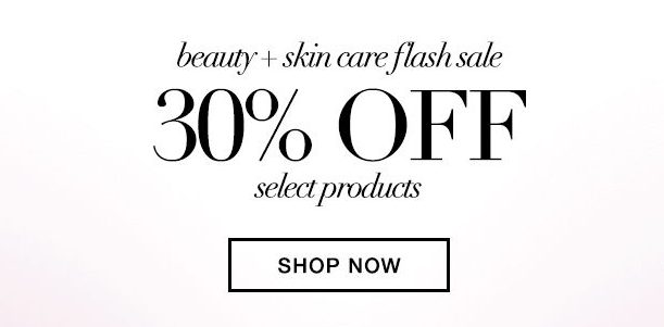 Text advert for a beauty product sale, advertising 30 percent off