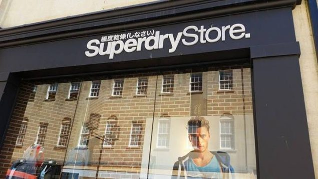 The outside of a Superdry store