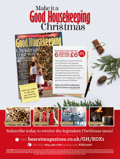 An advert promoting subscriptions to Good Housekeeping magazine