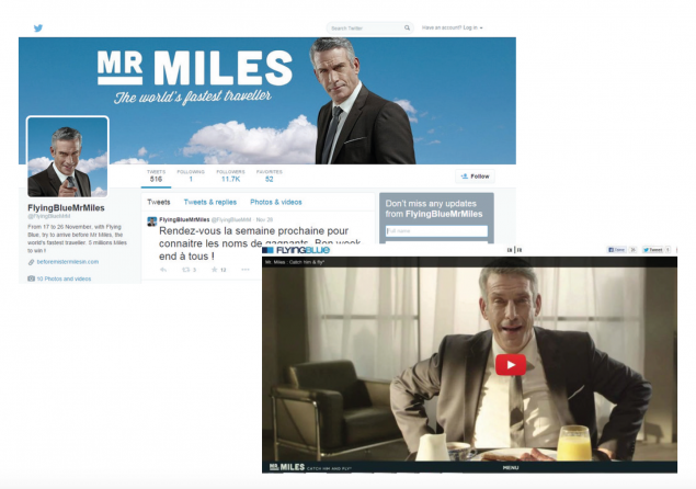 more images from mr miles, one of the digital games Air France KLM uses to capture data