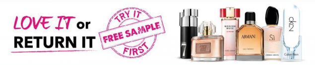 the fragrance shop's Try It First free sample offer