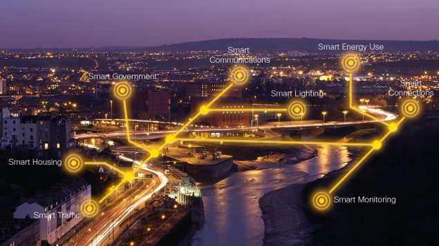 bristol's smart city elements highlighted such as lighting, housing and energy