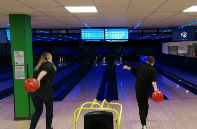 Bowling at the Ready Christmas party