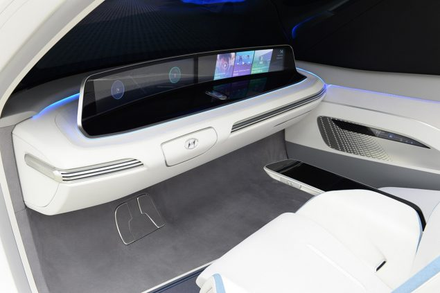 Conceptual interior of a driverless car