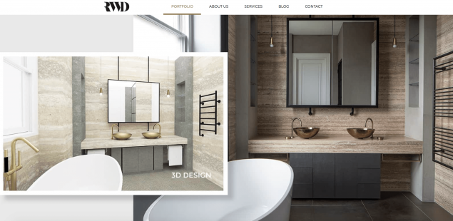 Creative agency Ready has redesigned the website of luxury interior design firm RWD