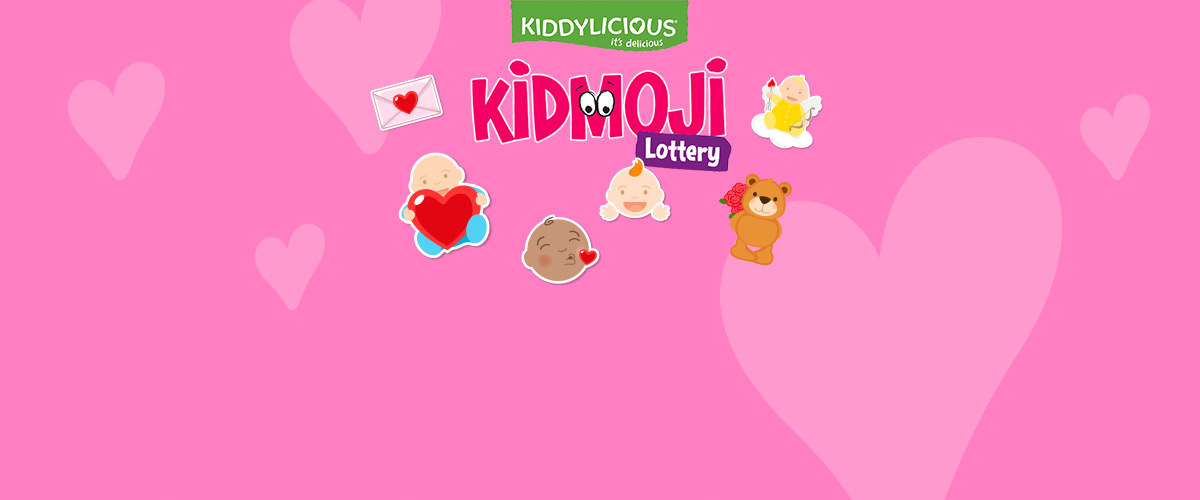 A selection of the Kidmoji icons in Kiddylicious's tactical promptional campaign