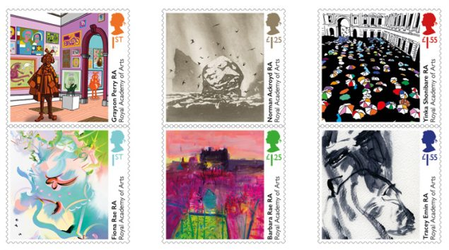 Royal Mail artist stamps