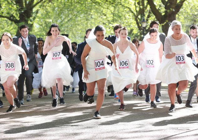 Pimms London wedding race