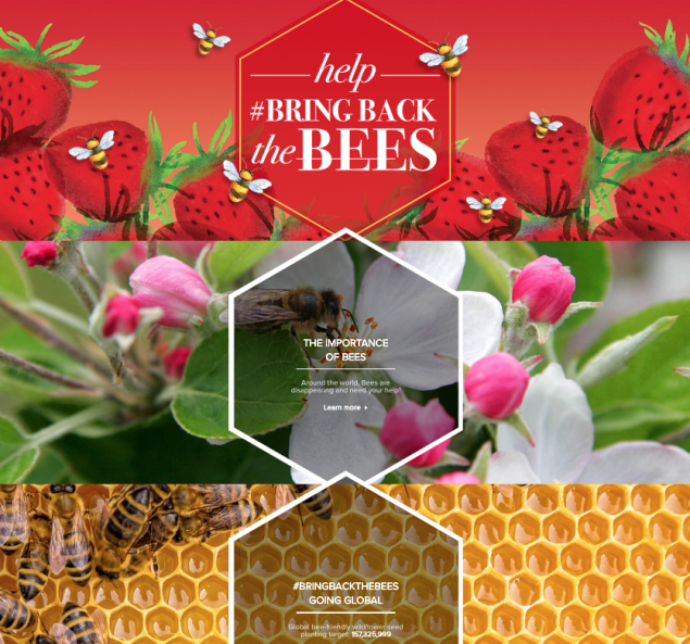 bring back the bees campaign landing page