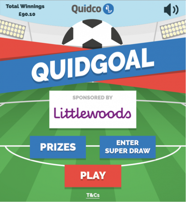 Quidgoal play page
