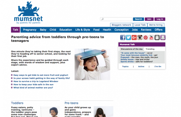 mumsnet child advice section