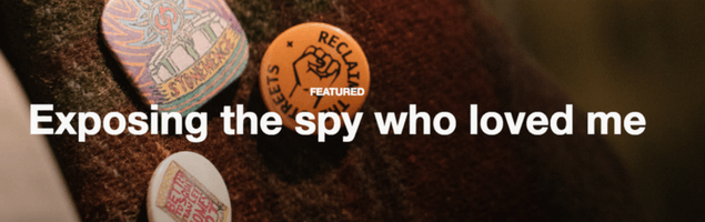 Screenshot from Lush's Spycops campaign
