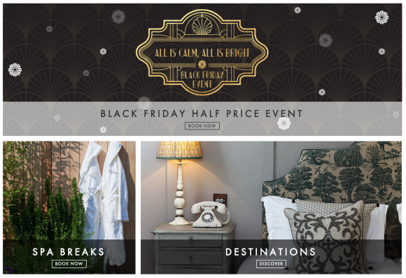 An advert for Champneys to promote their Black Friday 2018 deals