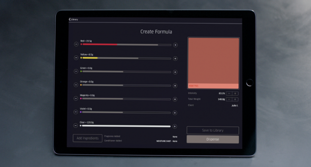 A colour customisation service for haircare brand Wella