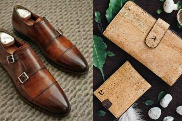 vegan leather shoes and phone case