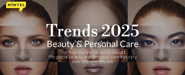 A graphic for Mintel Trends 2025 report looking at the four key trends set to impact the global beauty and personal care industry