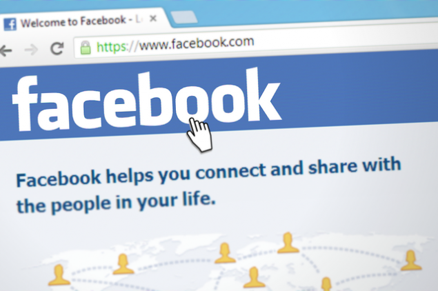 the facebook home page