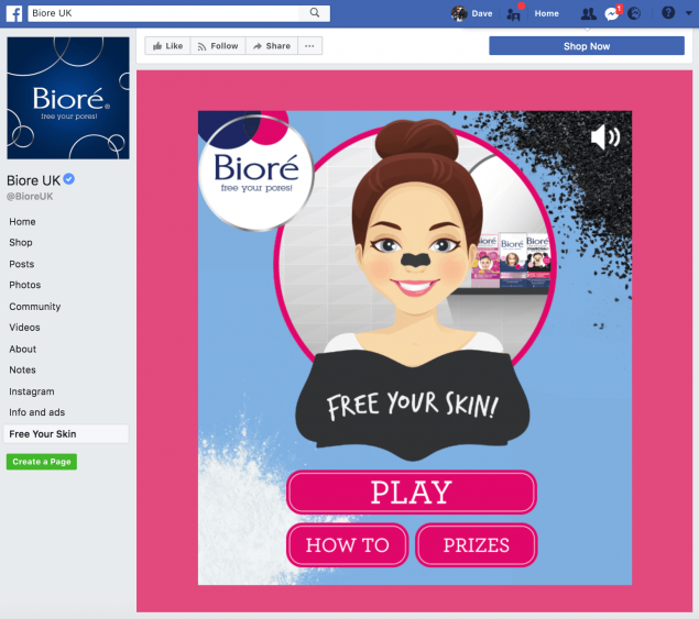 Social media and digital campaign for skincare brand Bioré