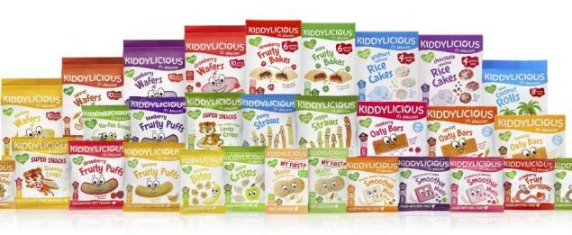 A range of Kiddylicious products