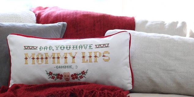 Fruit of the Loom kid quote pillows