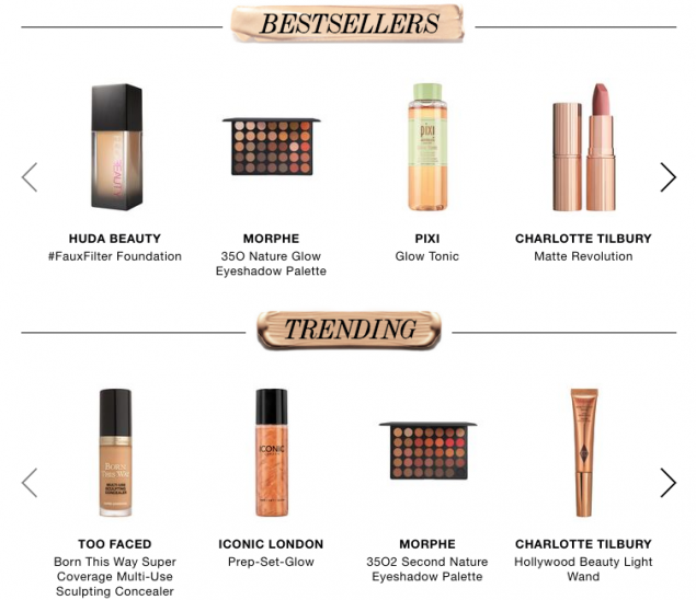 Cult Beauty best sellers