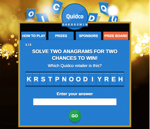 Quidco Guess2Win Black Friday campaign