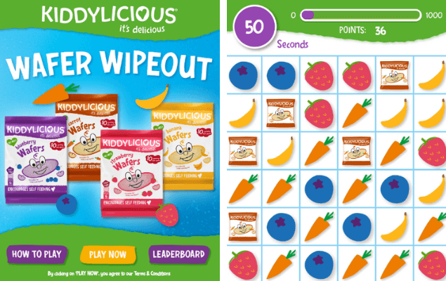 A digital game for kiddylicious