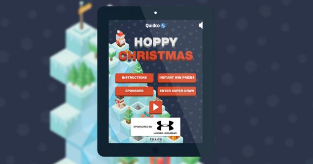 A screenshot from quidco's christmas 2018 online game