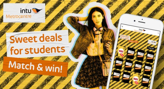 promotional image for intu metrocentre's sweet deals game